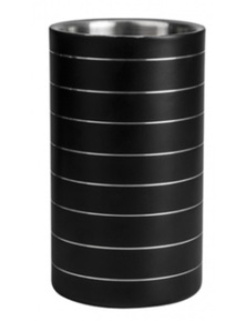 Stainless Steel Wine Cooler Insulated - Black
