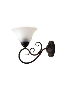 Bronze Traditional Frost Wall Light