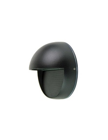 Led 6W Round Outdoor Sconce Ip54 Black