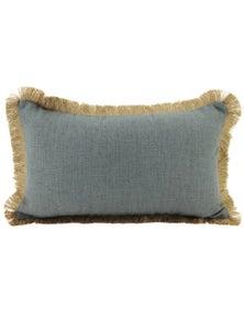 NF Living Linen Fringe Lumbar Cushion