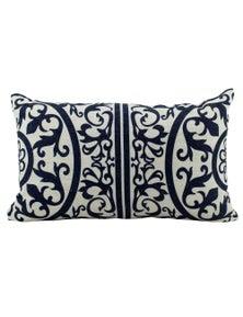 NF Living Hamptons Geometric Linen Breakfast Cushion