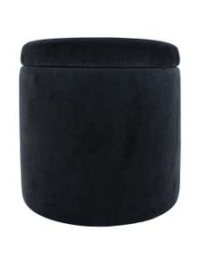 NF Living Velvet Storage Ottoman / stool