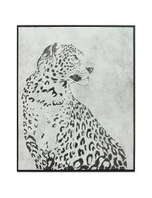 NF Living Framed Snow Leopard Canvas Wall Art