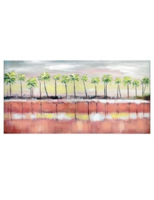 NF Living Palm Sunset Canvas Painting