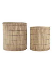 NF Living Kaede Set of 2 Natural Baskets / Planters