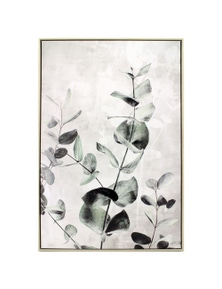 NF Living Framed Eucalyptus Branch Canvas Painting