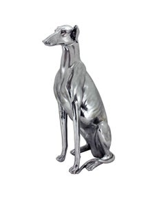 NF Living Max Silver Greyhound Statue