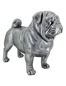 NF Living Silver Bella the Pug Statue