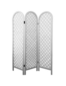 NF Living White Rattan Folding Screen / room divider
