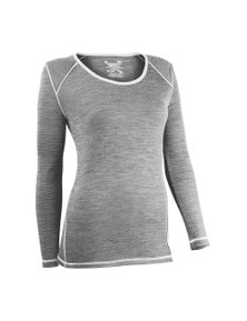 Wilderness Women Long Sleeve Tee Top Size 12 Thermal Activewear Fusion Ice Flow