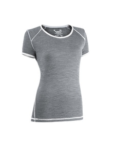 Wilderness Women Short Sleeve Tee Top Size 8 Thermal Activewear Fusion Ice Flow