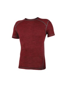 Wilderness Mens Short Sleeve Tee Top Size S Thermal Activewear Red Earth
