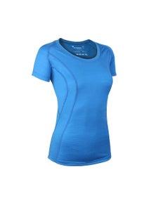 Wilderness Women Short Sleeve Scoop Tee Top Size 12 Thermal Activewear Glacier Blue