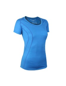 Wilderness Women Short Sleeve Scoop Tee Top Size 16 Thermal Activewear Glacier Blue