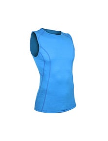 Wilderness Mens Short Sleeve Cool Tank Top Size L Thermal Activewear Glacier Blue