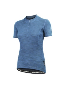 Wilderness Women Short Sleeve Cycle Jersey Top Size 10 Thermal Activewear Glacier