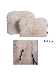 J.Elliot Demi Set of 2 Faux Fur Cosmetic Pouches