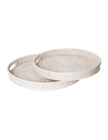 J.Elliot Pacifica Rattan Set of 2 Trays
