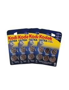 10 Pack Kodak CR2016/25/32 Multipack 60 - BULK  Ultra Lithium 3V Button Batteries