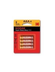 Kodak AAA 4 Pack Zinc 1.5V Extra Heavy Duty Low Drain Batteries