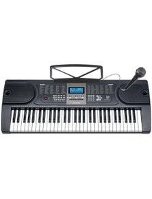 61 Key Full Size Electronic Keyboard LCD Screen Wired Microphone MK2106