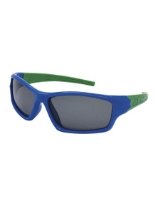 Black Ice Kids Blue with Green Frame Smoke Lens Sunglasses
