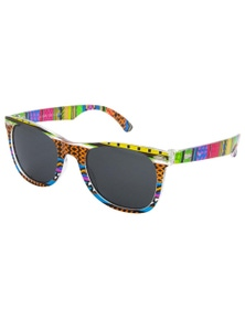 Black Ice Kids Colourful Aztec print Frame Smoke Lens Sunglasses