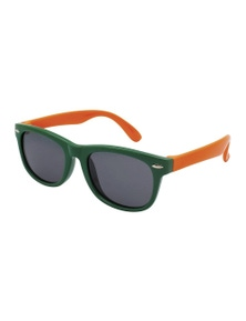Black Ice Kids Green With Orange Frame Smoke Lens Sunglasses