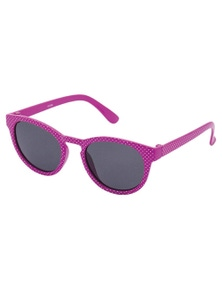 Black Ice Kids Hot Pink With White Spots Frame Smoke Lens Sunglasses