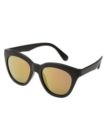 Black Ice Kids Matt Black Frame Pink Mirror Lens Sunglasses