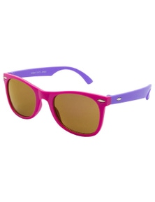 Black Ice Kids Matt Pink With Matt Purple Frame Purple Mirror Lens Sunglasses