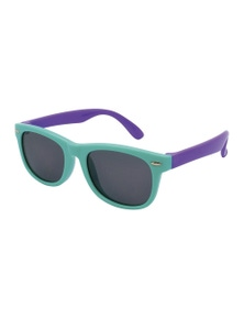 Black Ice Kids Mint with Purple Frame Smoke Lens Sunglasses