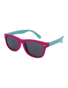 Black Ice Kids Pink with Turquoise Frame Smoke Lens Sunglasses