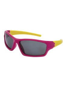Black Ice Kids Pink with Yellow Frame Smoke Lens Sunglasses