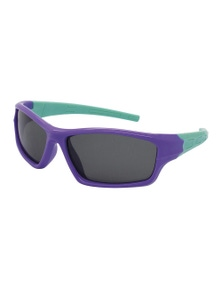 Black Ice Kids Purple with Mint Frame Smoke Lens Sunglasses