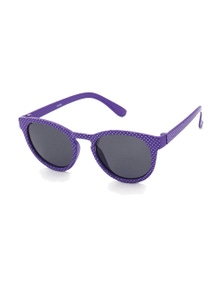 Black Ice Kids Purple with white spots Frame Smoke Lens Sunglasses