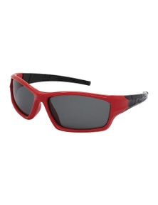 Black Ice Kids Red with Black Frame Smoke Lens Sunglasses