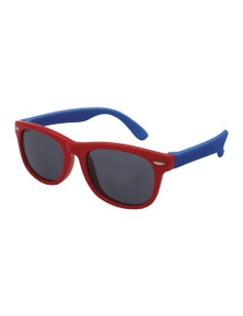 Black Ice Kids Red with Blue Frame Smoke Lens Sunglasses