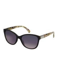 Black Ice Womens Black & Green Floral Frame Smoke Lens Sunglasses