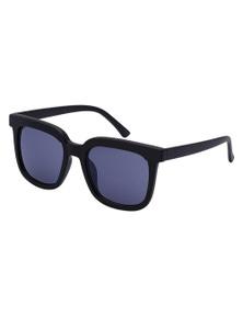 Black Ice Womens Black Frame Blue Mirror Lens Sunglasses