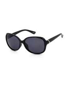 Black Ice Womens Black Full Frame Smoke Lens Sunglasses