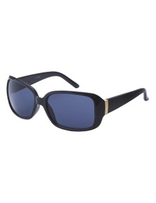 Black Ice Blat Womens Black Frame Smoke Lens Sunglasses