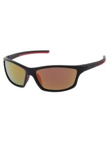 Black Ice Paso Mens Matt Black Frame Red mirror Lens Sunglasses