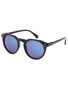 Black Ice Unisex Black Frame Blue Mirror Lens Sunglasses