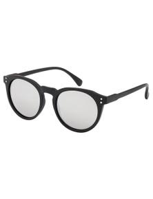 Black Ice Unisex Black Frame Silver Mirror Lens Sunglasses