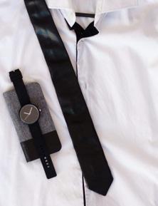 Kesa + Konc The Godfather Leather Tie - Black