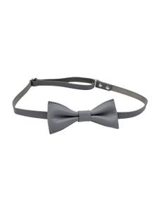 Kesa + Konc Calvin Leather Bow Tie - Grey