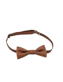 Kesa + Konc Arthur Leather Bow Tie - Tan