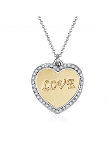 Mestige Covered in Love Necklace with Swarovski Crystals
