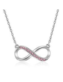 Mestige Rose Infinitely Yours Necklace with Swarovski Crystals